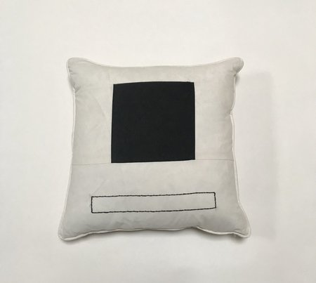 Bianca and Red Square Pillows