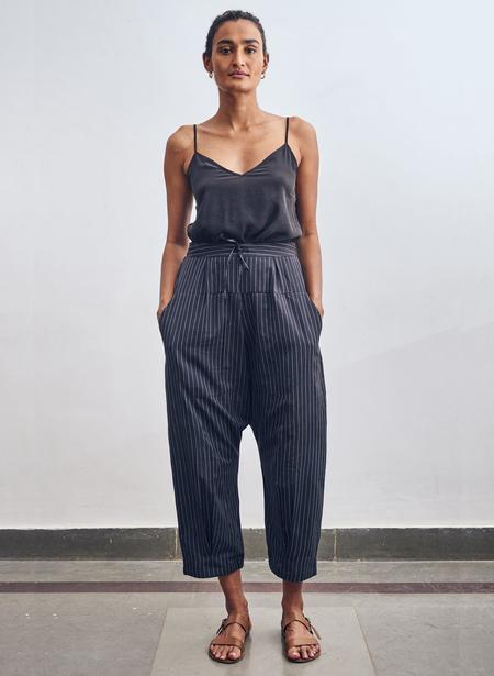 Seek Collective Jaipur Pants - Black/White Pinstripe