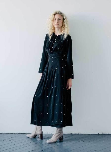 Seek Collective Silk Jacquard Rene Dress - Silver Diamond