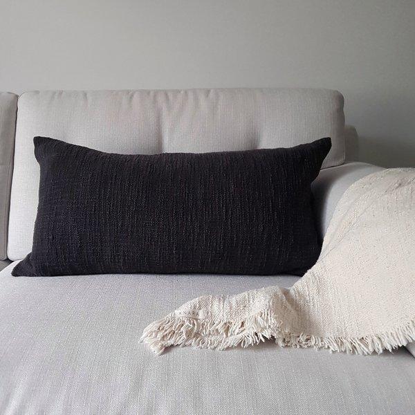 Anara Sable Lumbar Pillow - Charcoal