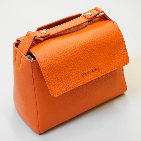 Orciani Sveva Small Leather Handbag - Orange  51a2d51ac4a2b