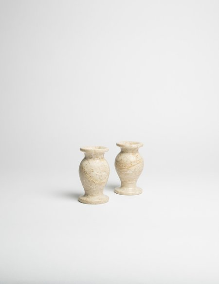 Found by Fourth Pair of Onyx Candlestick Holders - Blonde
