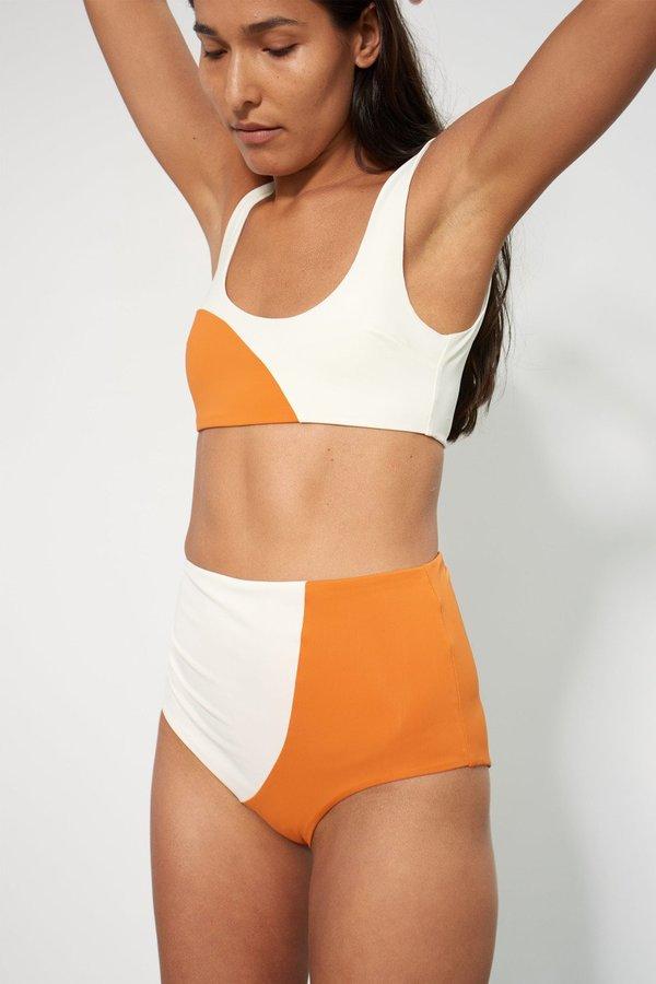 eb5902f5ca59 Mara Hoffman Lira Bikini Top - Orange Cream