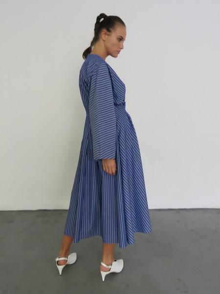 Rejina Pyo Alice Cotton Dress - Stripe Dark Blue