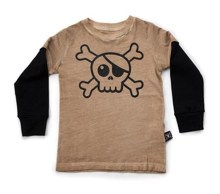 Kids Nununu Skull Long Sleeve T-Shirt
