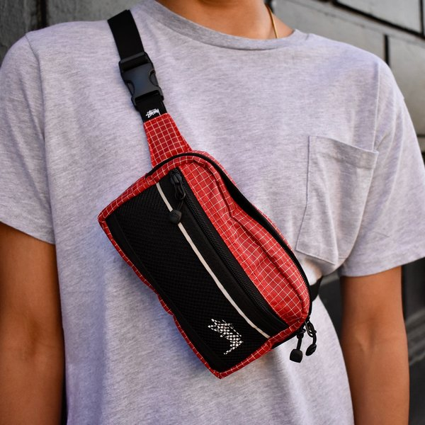 a6c48948d4 Stussy Ripstop Nylon Waist Bag - Red