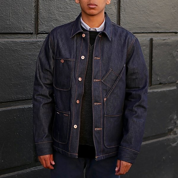 dd709a67eb5 Tellason Coverall Jacket - Raw Blue
