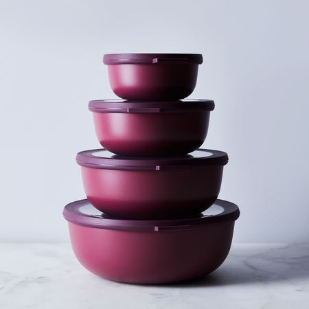 Rosti Mepal Microwavable Nested Storage Bowls - Berry