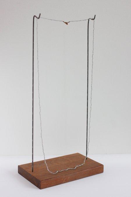 Lena Skadegard Tiny Pearl Necklace - Grey