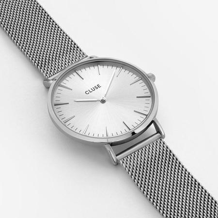 Cluse La Bohème Mesh Full Watch - Silver