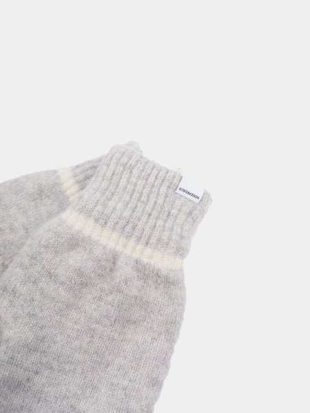 Norse Projects Ebba Knit Mitten - Light Grey Melange