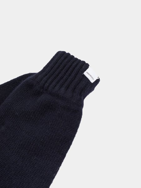 Norse Projects Ebba Lambswool Mitten - Dark Navy