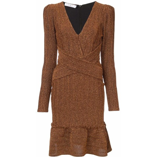 PatBO Lurex Mini Dress - Copper