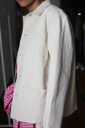 CARON CALLAHAN Canvas Krasner Jacket - CREAM