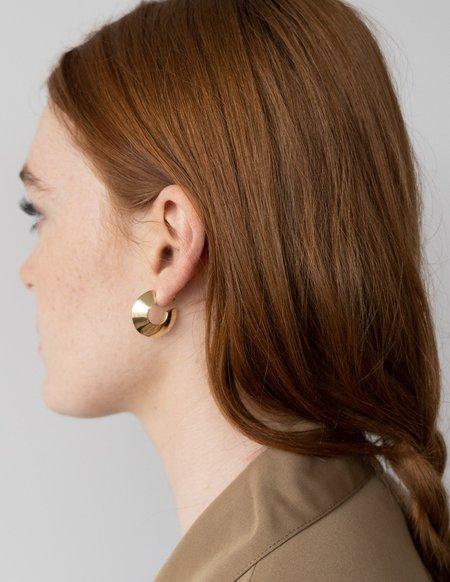 Cadette Hoop Form Earrings - Brass