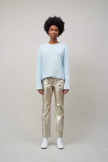 Nomia Transfer Rib Sweater - Sky
