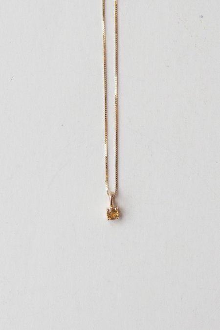 Leah Alexandra Element Necklace - Citrine