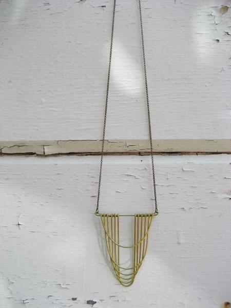 Hellbent Cathleen Drape Necklace - Brass
