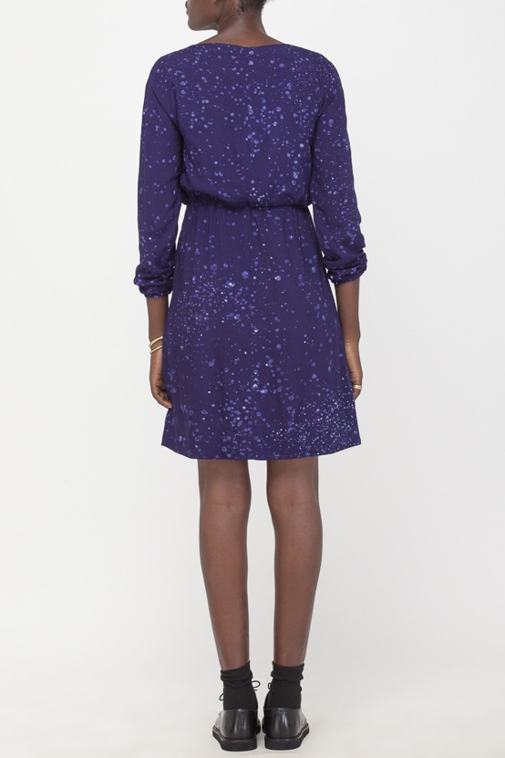 Osei-Duro Aburi Dress in Navy Splatter