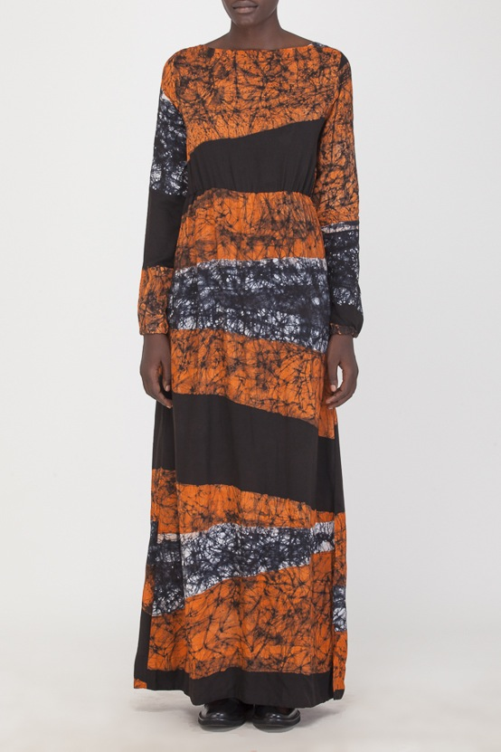 Osei-Duro Mallam Dress in Coral Drift