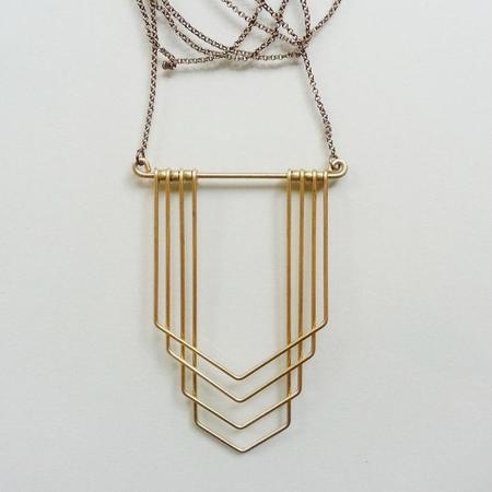 Hellbent New Deco Chevron Necklace