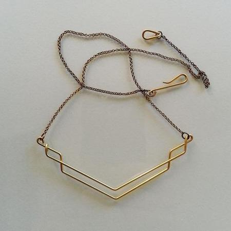 Hellbent Single-line Necklace - Brass