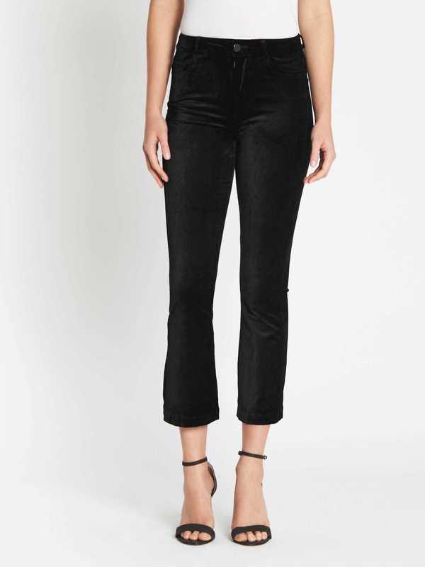 Paige Colette Crop Flare Velvet Jean