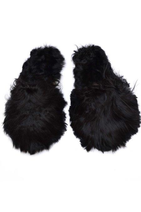 Ariana Bohling Suri Baby Alpaca Slipper - Black