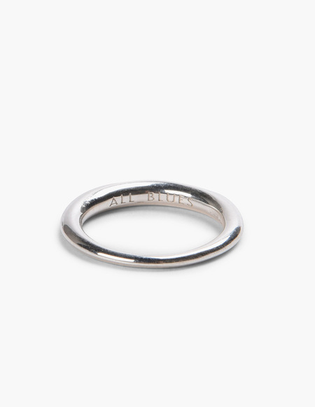 All Blues Hungry Snake Ring - Polished Silver