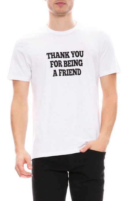 AMI Thank You For Being A Friend T-Shirt - White