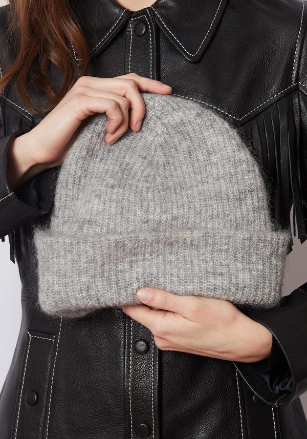 000fa5ac6f4ce Ganni Soft Wool Knit Beanie
