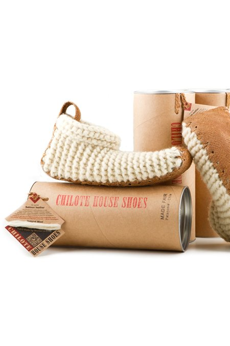 Unisex Chilote House Shoes - Natural/Brown