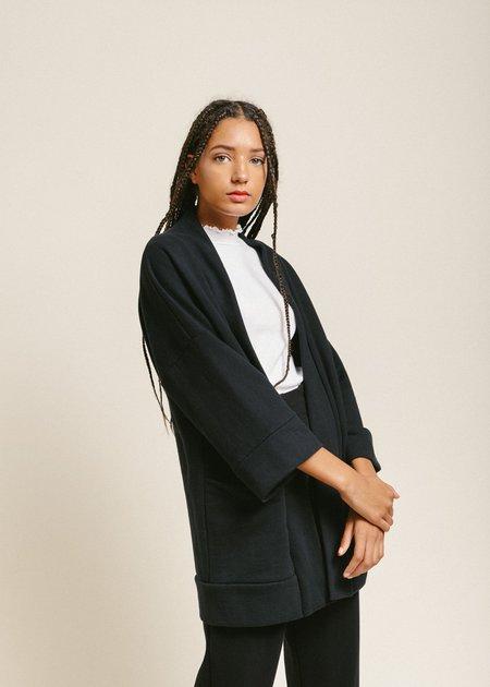 Odeyalo BLOOM kimono - Black