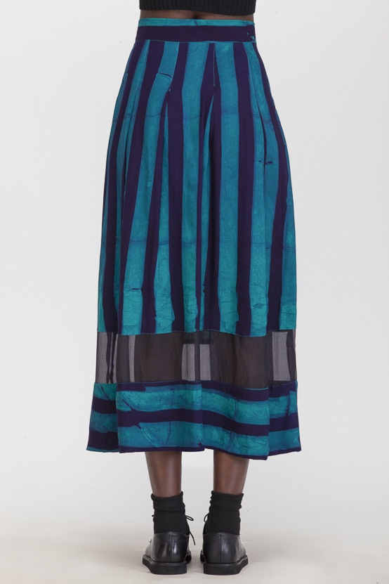 Osei-Duro Kumasi Pleated Skirt Esmeralda
