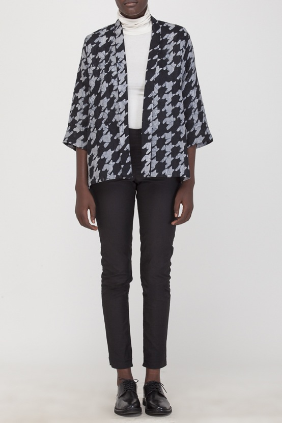 Osei-Duro Arca Jacket in in Houndstooth