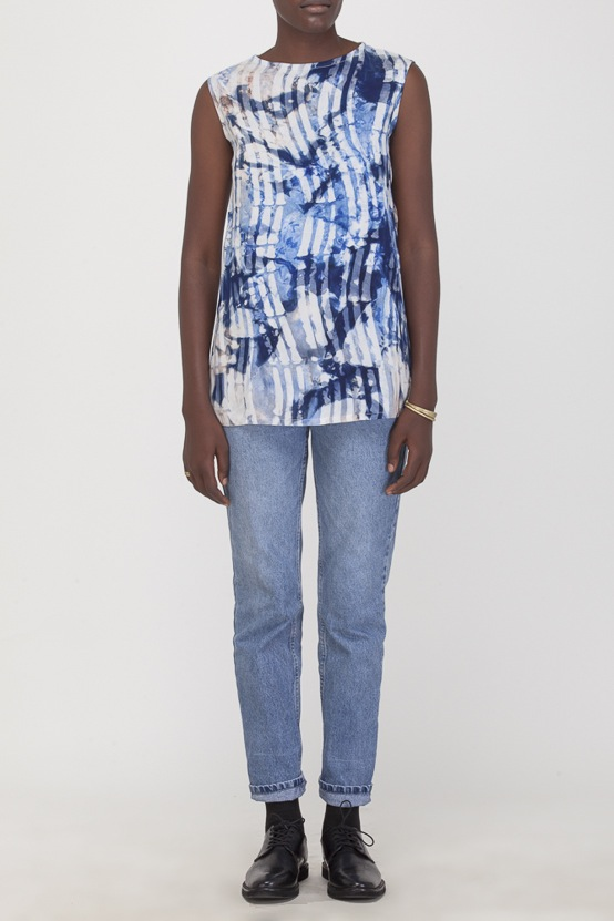 Osei-Duro Taifa Split Top in Waves