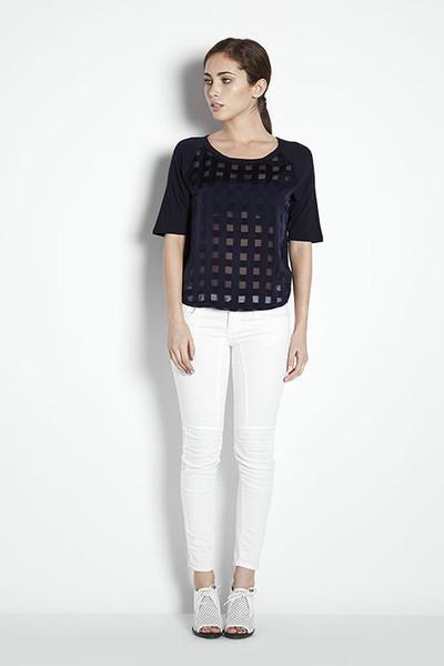 Joa Contrast Mesh Checked Shirt