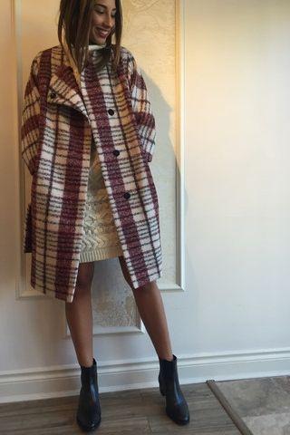 Derek Lam 10 Crosby 'Medea' plaid wrap coat