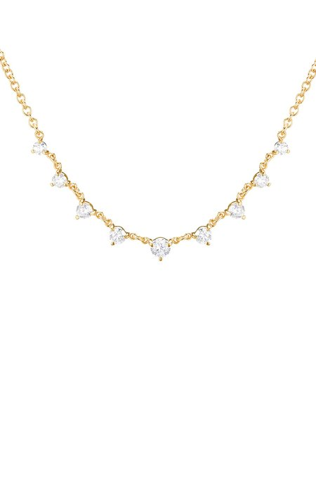 Carbon & Hyde Mini Star Struck Necklace - Yellow Gold