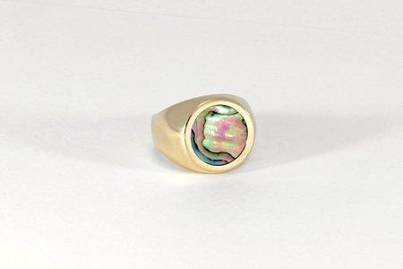 Legier Round Stone Signet - Abalone