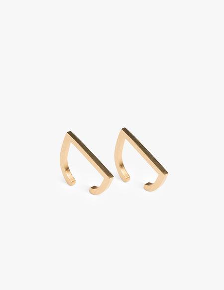 The Boyscouts Rivet Cuff pair Earring - Gold