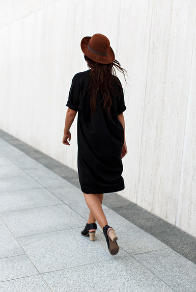GRATITUDE COLLECTION Black Muse Dress, Silk
