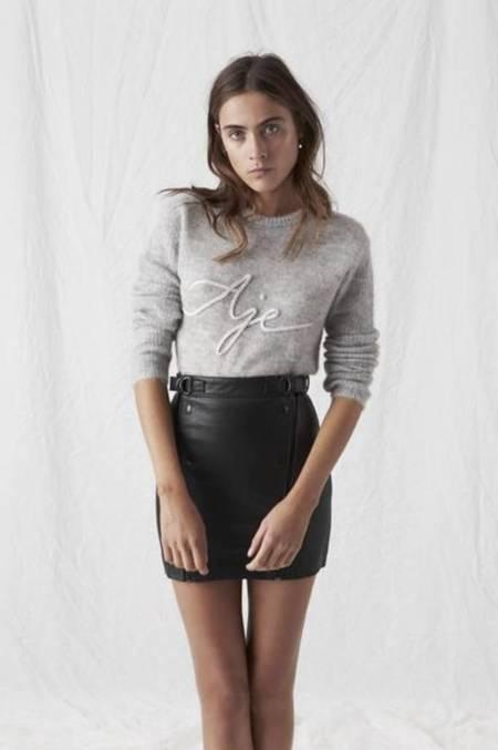Aje Sedgwick Mini Skirt - BLACK