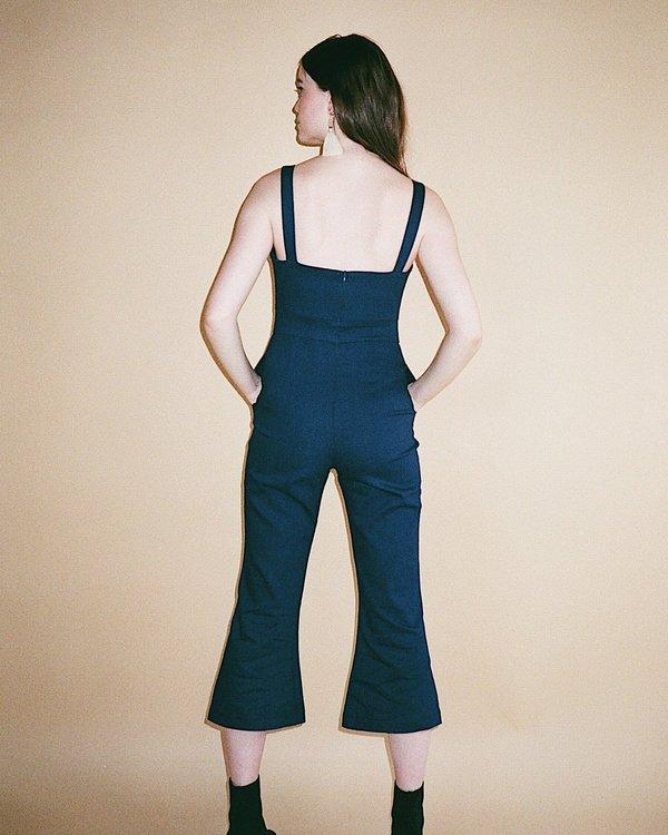 a0f5716fcb1 harly jae Bardot Jumpsuit - Navy Blue