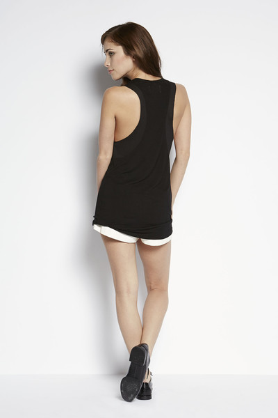 Shades of Grey by Micah Cohen Mesh Trim Tank