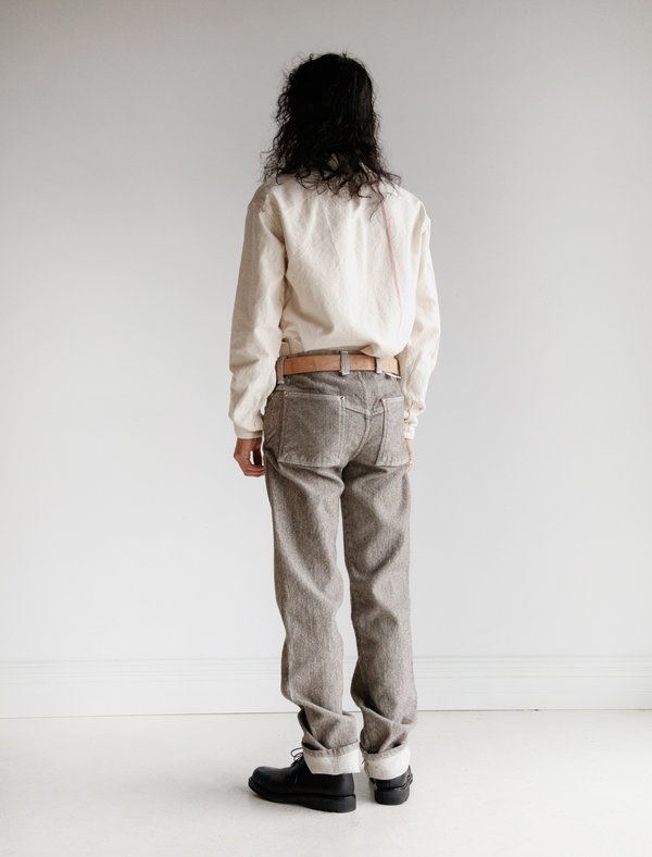 Tender Ryeland Wool Face Cotton Wide Jeans