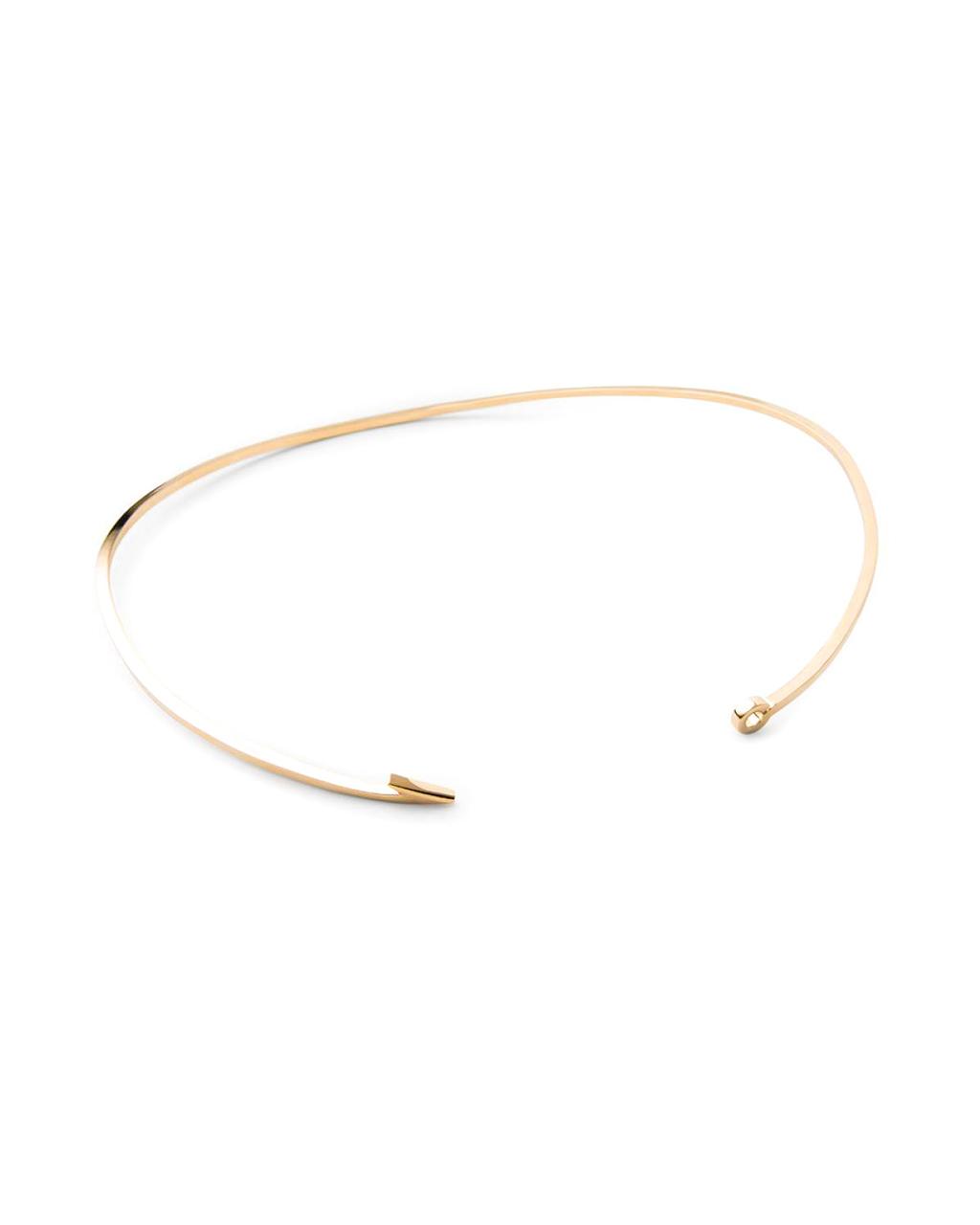 Miansai thin gold fish hook necklace garmentory for Gold fish hook necklace