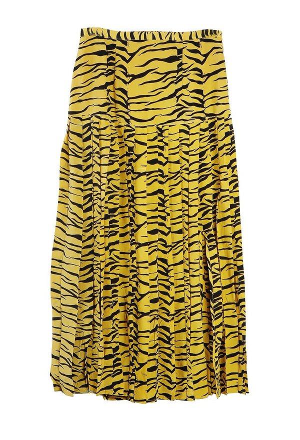 b85abe111b RIXO LONDON Tina Tiger Skirt - Mustard | Garmentory