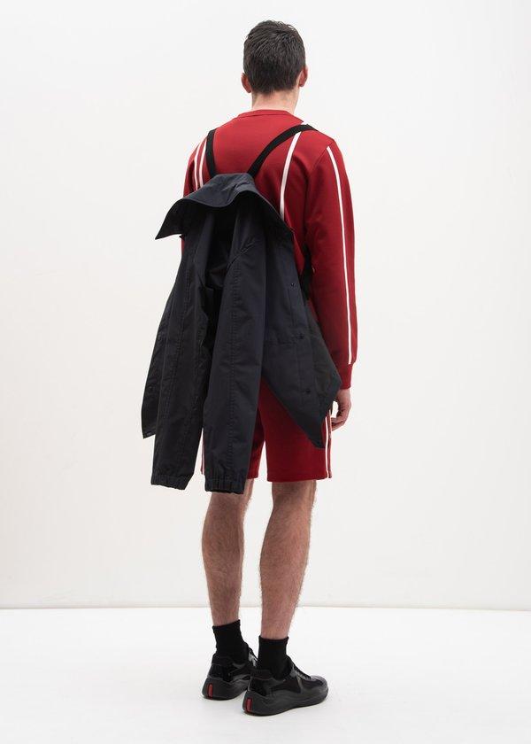 Helmut Lang Crimson Sport Stripe Sweatshirt - Red