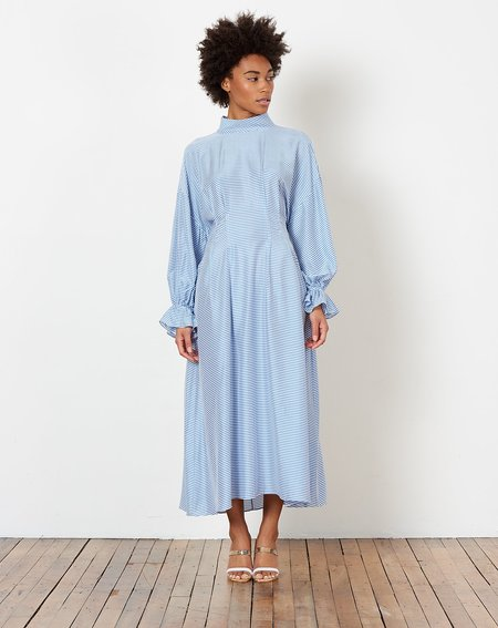 Rachel Comey Clipse Dress - Blue Soft Stripe